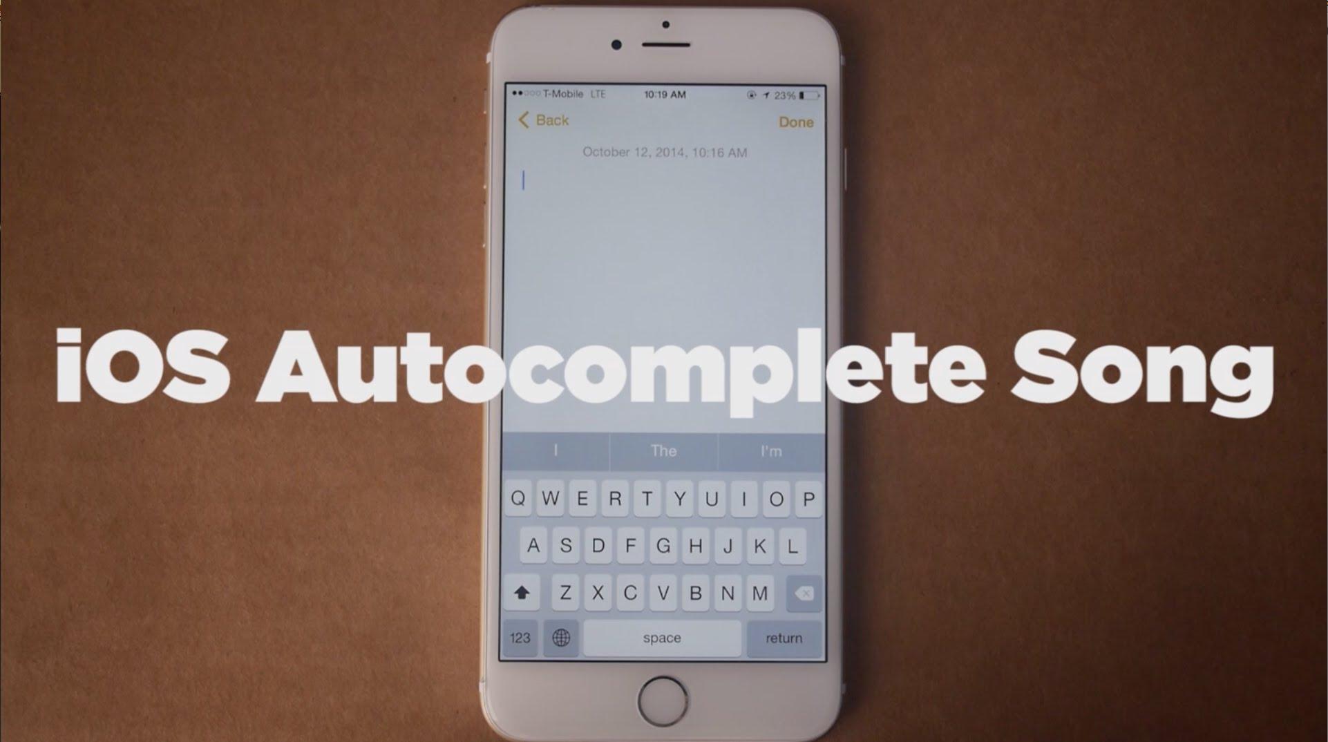 Artista compõe música usando apenas o auto-completar do iOS [Vídeo]